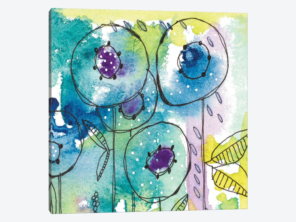 Splash of Watercolor Floral by Krinlox 1-piece Canvas Art