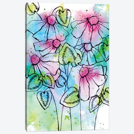 Vibrant Bursts and Blossoms Canvas Print #KLX31} by Krinlox Canvas Print