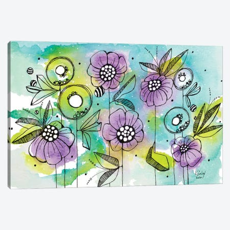 Vibrant Garden Beauties Canvas Print #KLX32} by Krinlox Canvas Print
