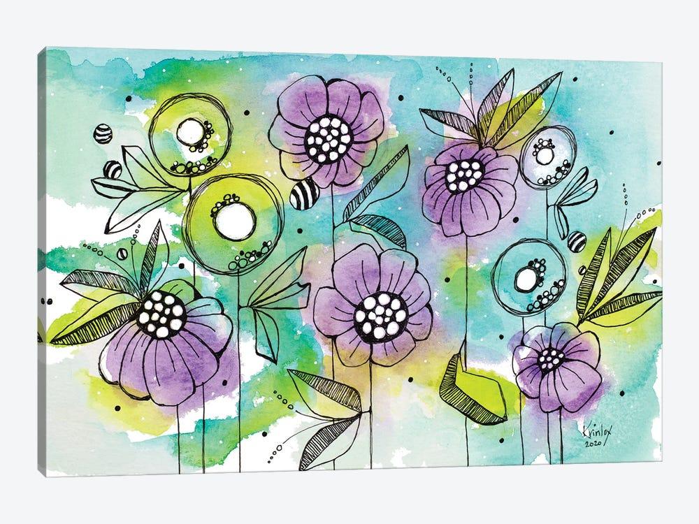 Vibrant Garden Beauties by Krinlox 1-piece Canvas Artwork