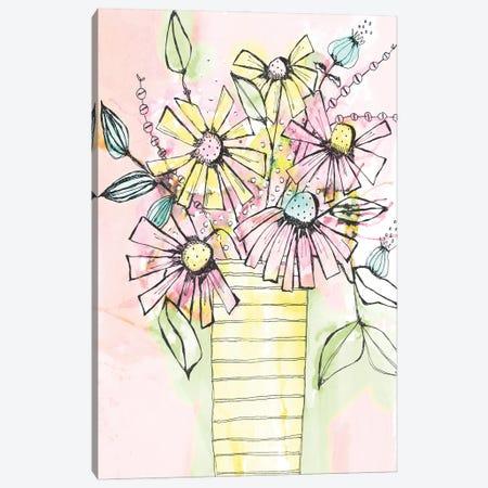 Wildflowers Vase Canvas Print #KLX33} by Krinlox Art Print