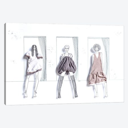 Fitting Room Selfies Canvas Print #KLY10} by Kelly L Illustration Canvas Art