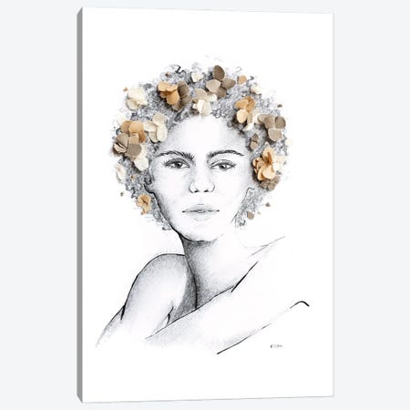 Flower Child Canvas Print #KLY11} by Kelly L Illustration Canvas Artwork