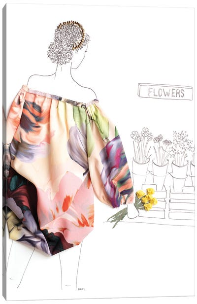 Flower Picking Canvas Art Print