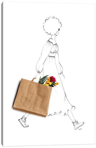 Flowers Help Canvas Art Print