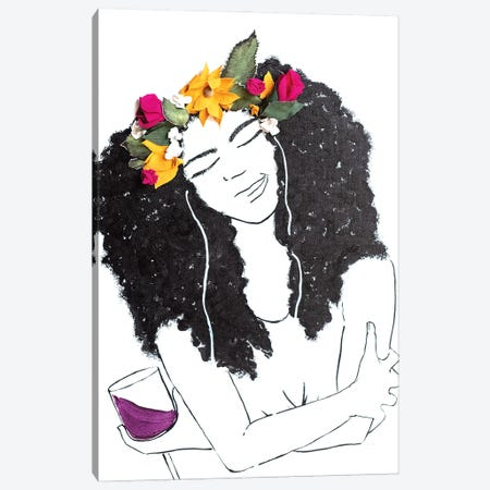Flowers, Music, and Wine Canvas Print #KLY14} by Kelly Lottahall Canvas Print