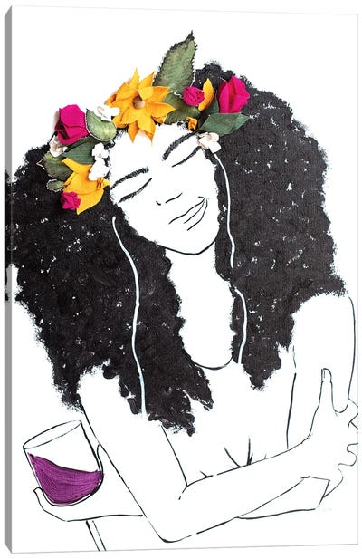 Flowers, Music, and Wine Canvas Art Print