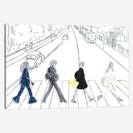 Abbey Road Girls Canvas Print #KLY1} by Kelly Lottahall Canvas Art