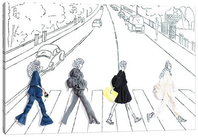 Abbey Road Girls Canvas Art Print