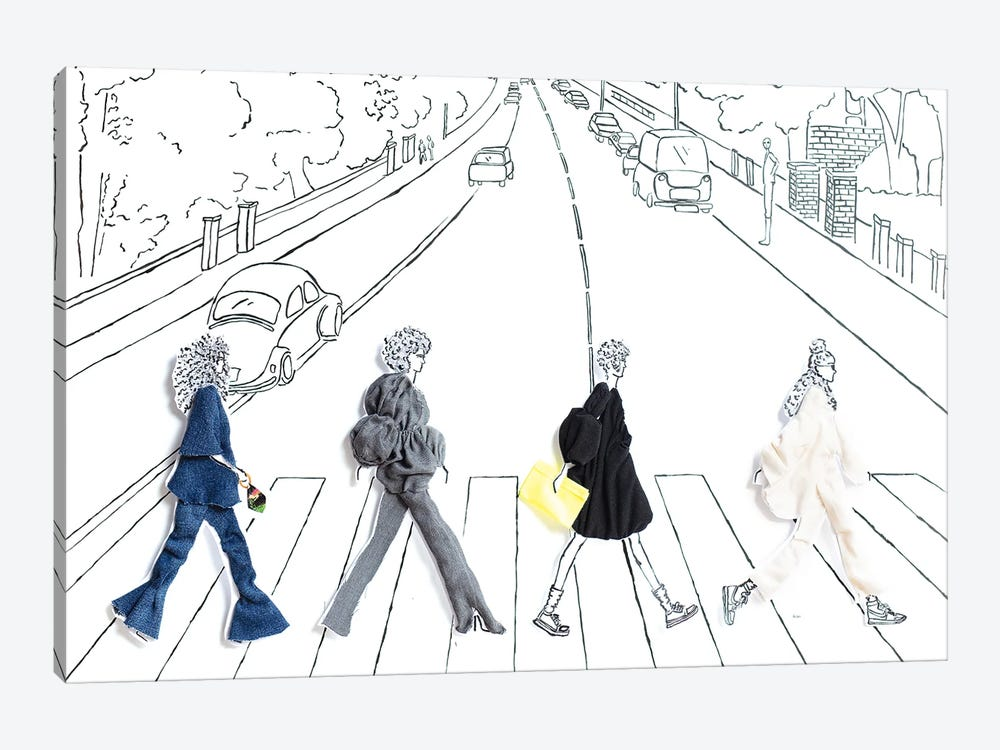 Abbey Road Girls by Kelly Lottahall 1-piece Canvas Artwork
