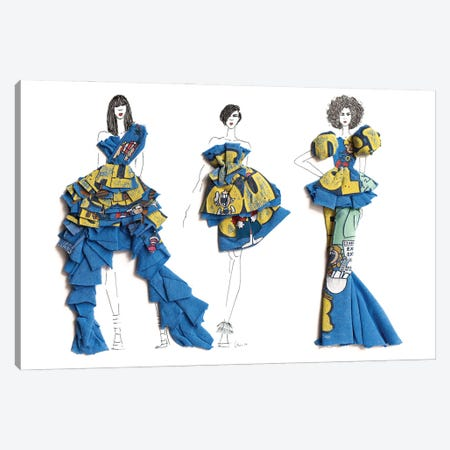 Schoolhouse Girls that Rock Canvas Print #KLY23} by Kelly L Illustration Canvas Print