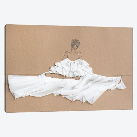 Sitting Parachutes I Canvas Print #KLY25} by Kelly L Illustration Canvas Art