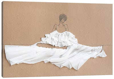 Sitting Parachutes I Canvas Art Print