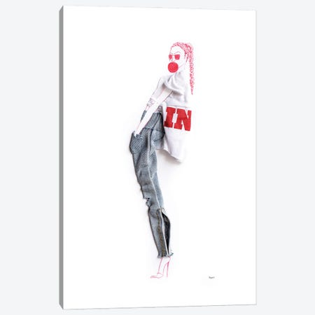 All In Canvas Print #KLY2} by Kelly L Illustration Canvas Art