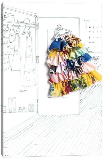 Summer Closet Fashion Canvas Art Print