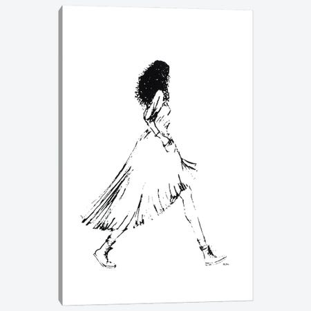 Walking Girl I Canvas Print #KLY34} by Kelly L Illustration Canvas Print