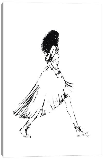 Walking Girl I Canvas Art Print