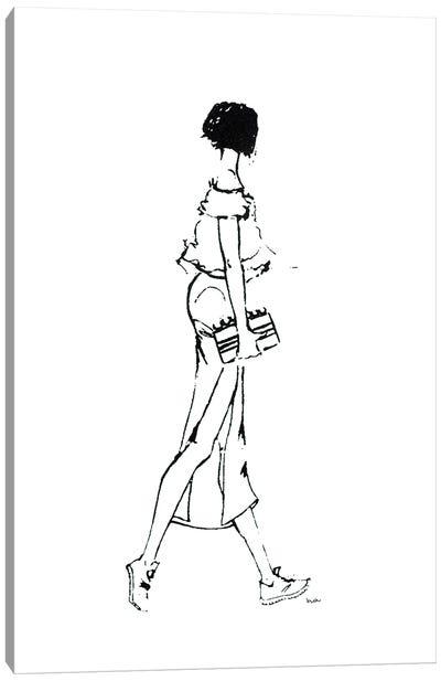 Walking Girl II Canvas Art Print