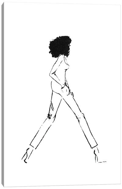 Walking Girl III Canvas Art Print