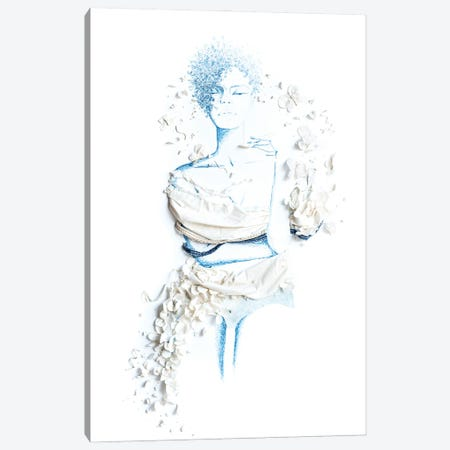 Blue Hue Canvas Print #KLY5} by Kelly Lottahall Art Print