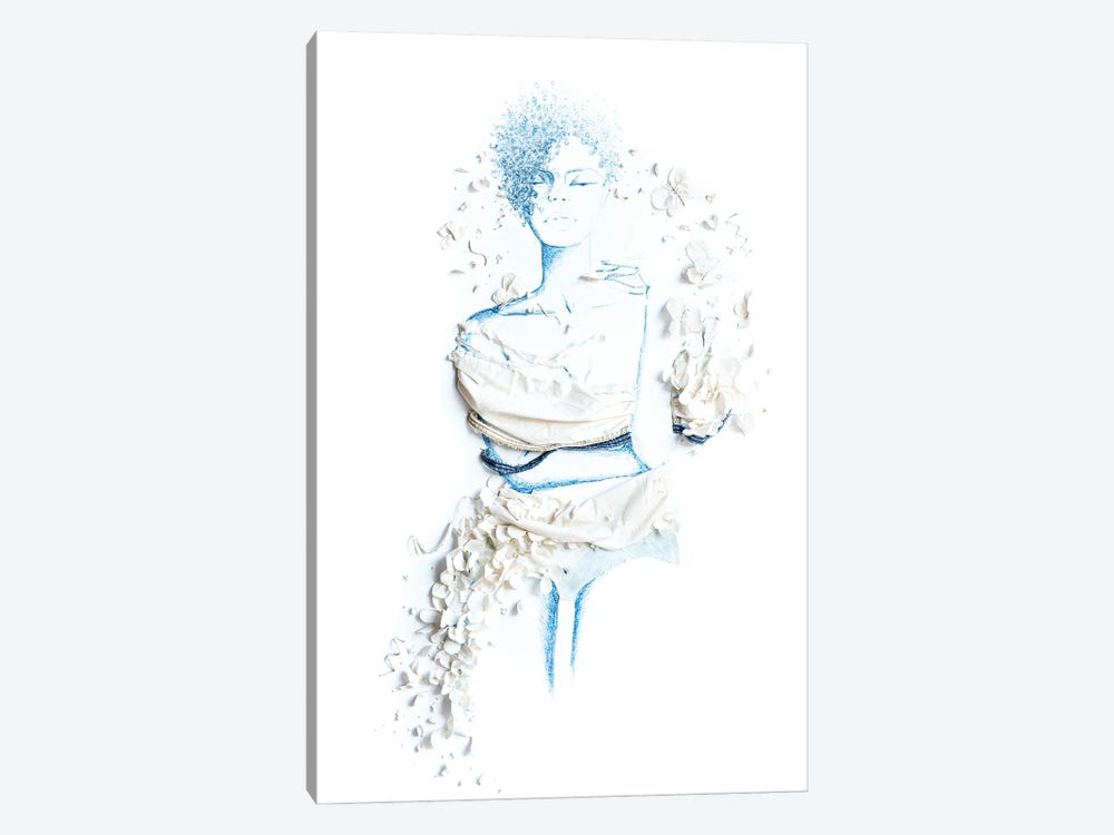 Blue Hue by Kelly Lottahall 1-piece Canvas Wall Art