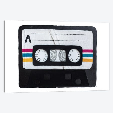 Casette Tape Canvas Print #KLY6} by Kelly Lottahall Canvas Print