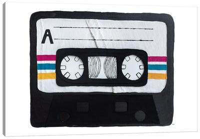 Casette Tape Canvas Art Print