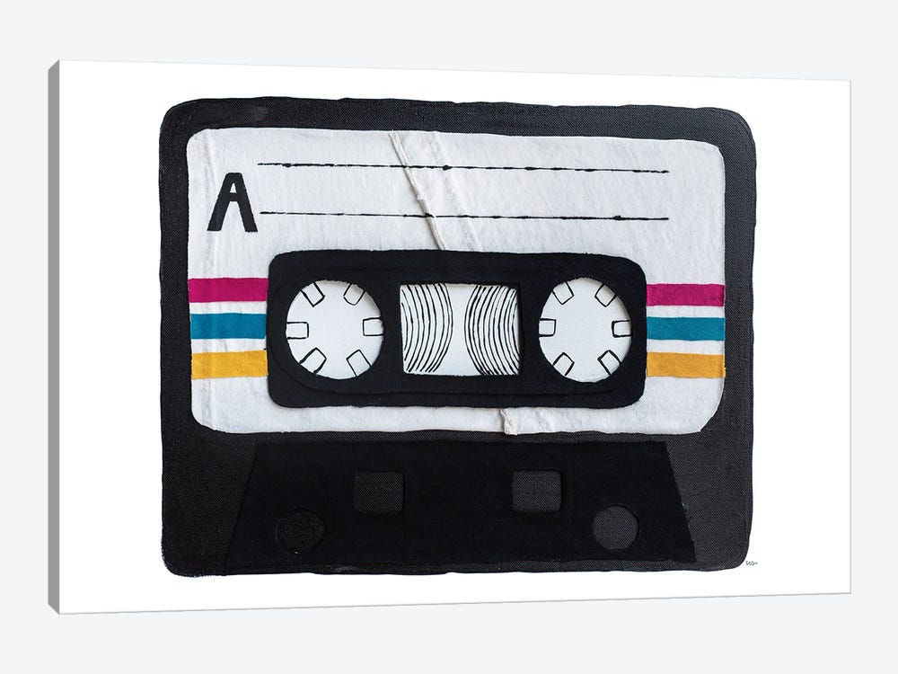 Casette Tape by Kelly Lottahall 1-piece Canvas Art Print