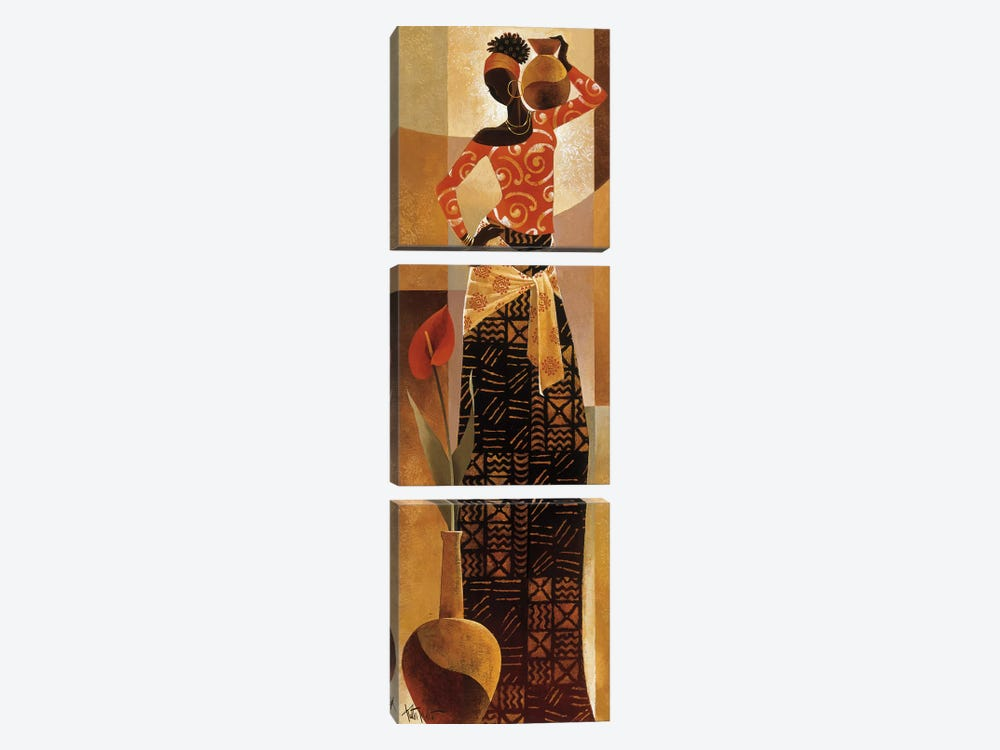 Bahiya by Keith Mallett 3-piece Canvas Art Print