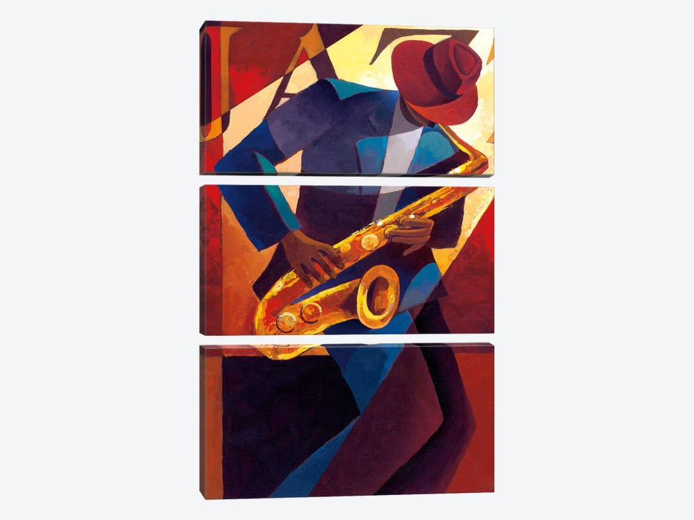Bebop by Keith Mallett 3-piece Canvas Artwork