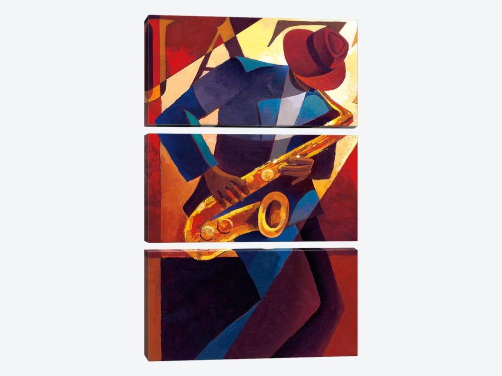Bebop by Keith Mallett 3-piece Canvas Artwork