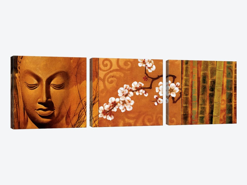 Buddha Panel I by Keith Mallett 3-piece Canvas Art