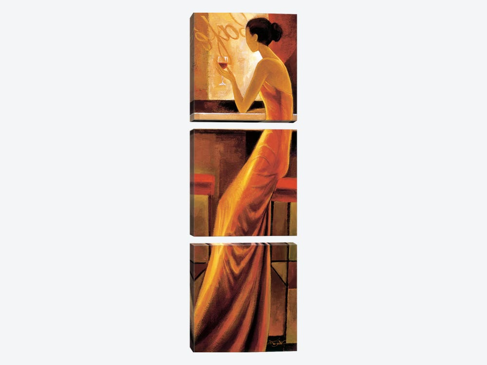 Enigmatique by Keith Mallett 3-piece Canvas Wall Art