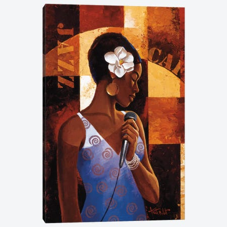 Jazz Cafe Canvas Print #KMA20} by Keith Mallett Canvas Art
