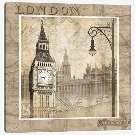 London Calling Canvas Print #KMA25} by Keith Mallett Canvas Art Print