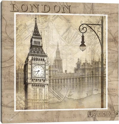 London Calling Canvas Art Print