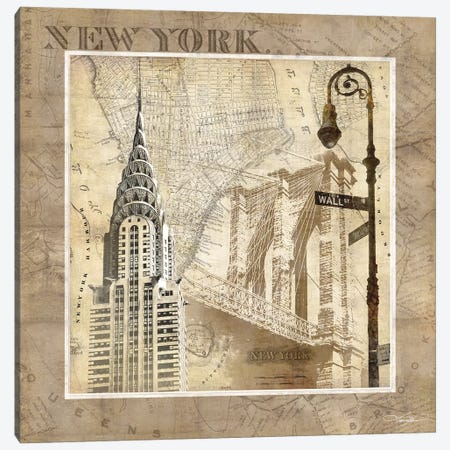 New York Serenade Canvas Print #KMA34} by Keith Mallett Canvas Wall Art