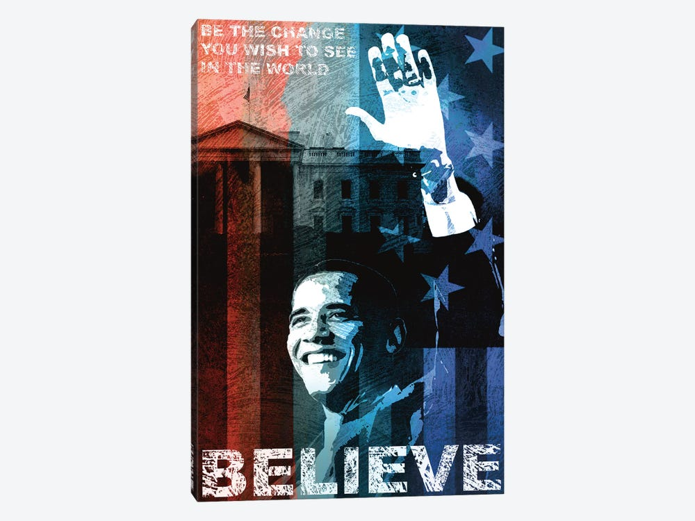 Obama: Believe 1-piece Canvas Artwork