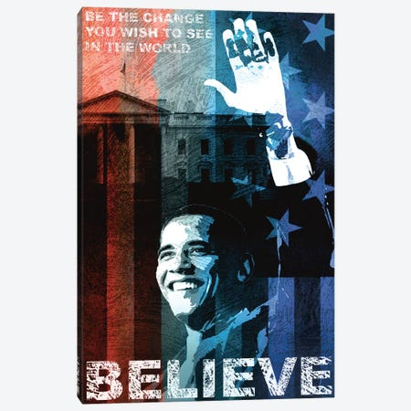 Obama: Believe Canvas Print #KMA35} by Keith Mallett Canvas Art