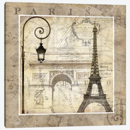 Paris Holiday Canvas Print #KMA37} by Keith Mallett Canvas Art