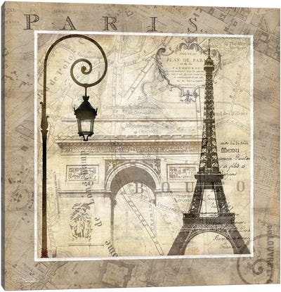 Paris Holiday Canvas Art Print