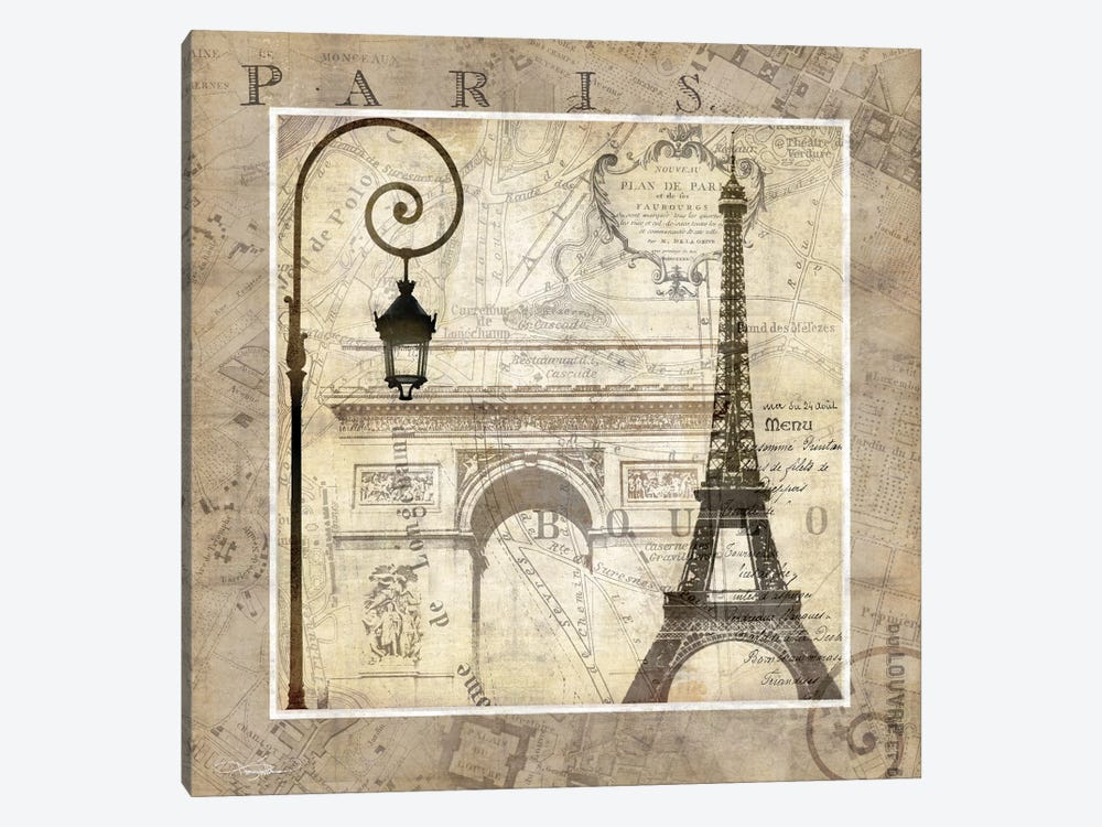 Paris Holiday by Keith Mallett 1-piece Canvas Wall Art