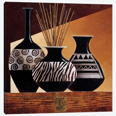Patterns In Ebony I Canvas Print #KMA38} by Keith Mallett Canvas Print