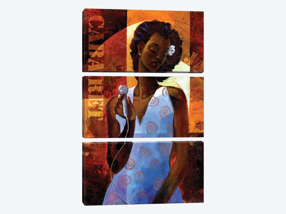 Diva by Keith Mallett 3-piece Canvas Print