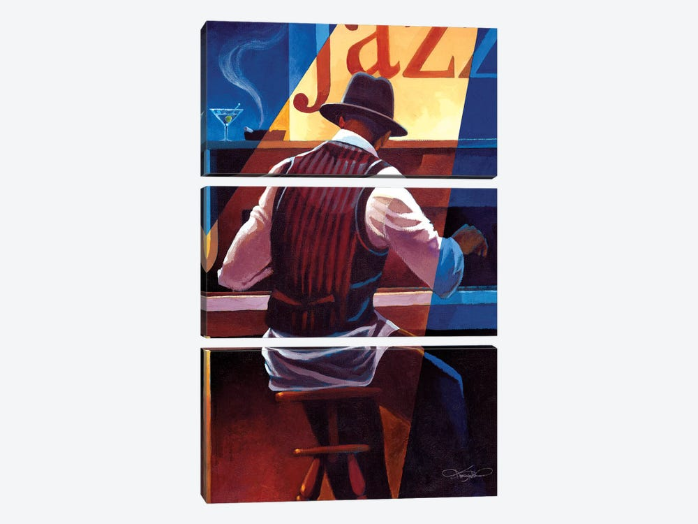 Ragtime by Keith Mallett 3-piece Canvas Art Print