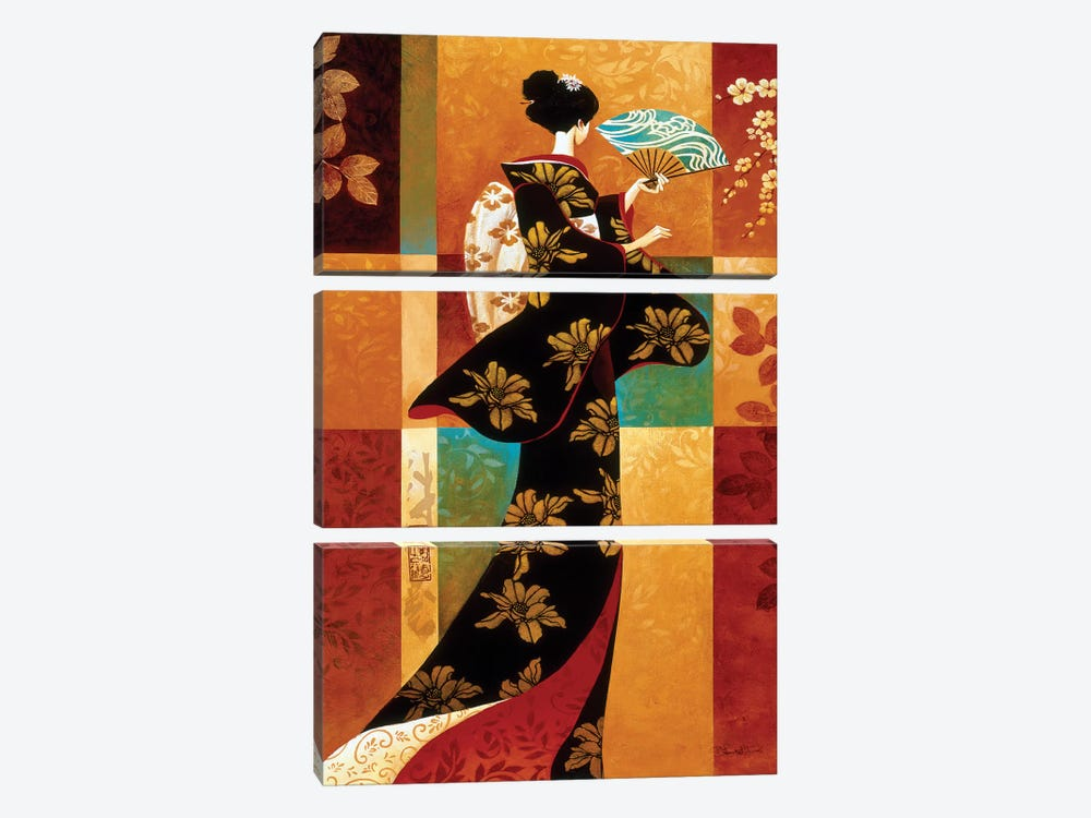 Sakura by Keith Mallett 3-piece Canvas Artwork