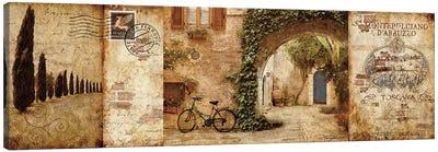 Tuscan Courtyard Canvas Art Print