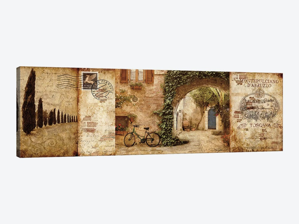 Tuscan Courtyard by Keith Mallett 1-piece Canvas Artwork