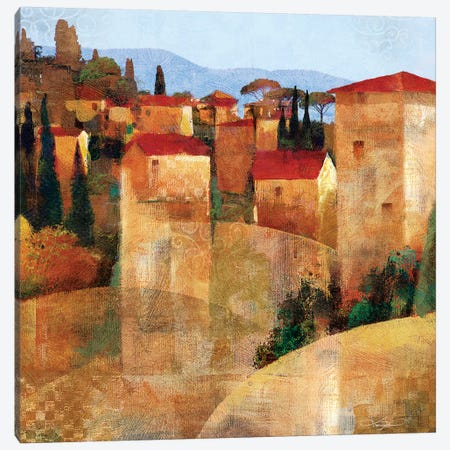 Tuscan Hillside Canvas Print #KMA52} by Keith Mallett Canvas Art Print