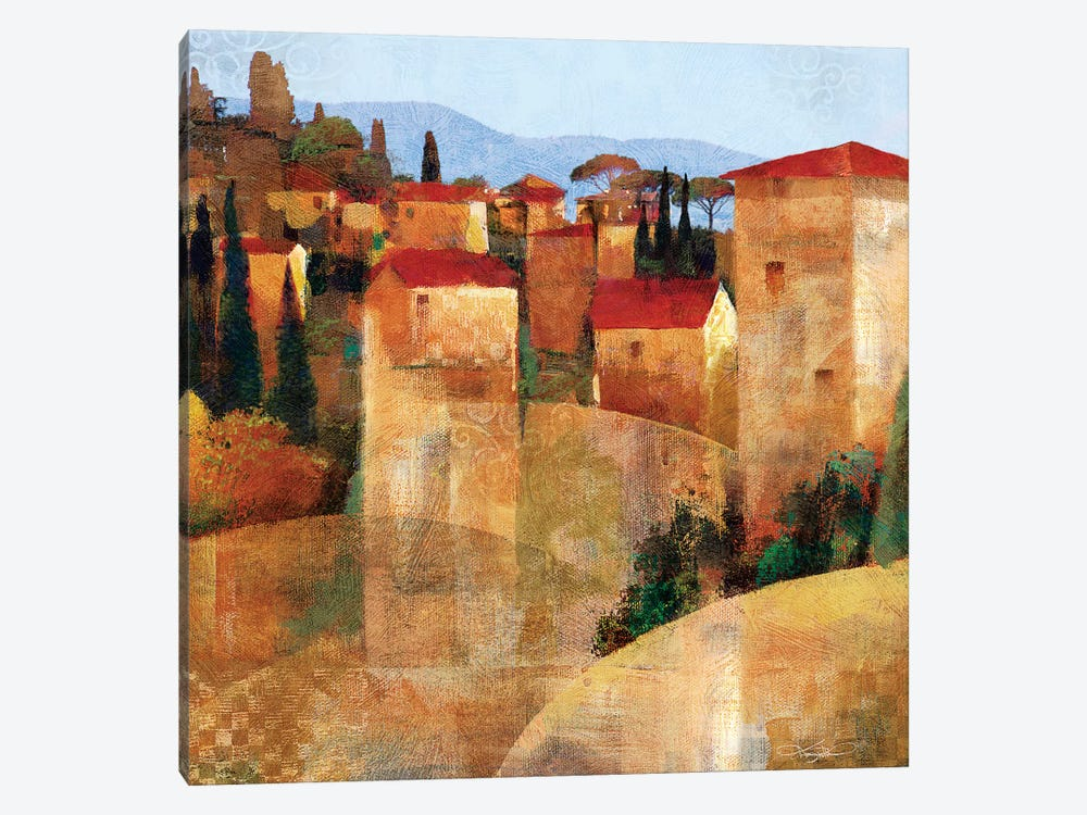 Tuscan Hillside by Keith Mallett 1-piece Canvas Print